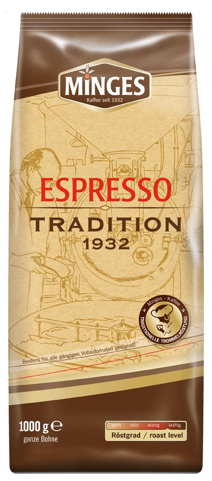 Minges Kaffeebohnen  Espresso Tradition 1932